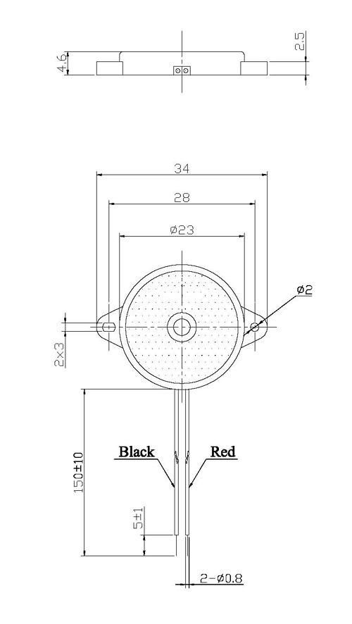 piezo transducer buzzer piezo indicator fbpt2346