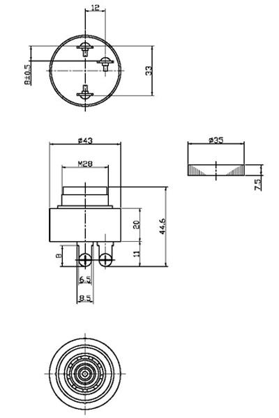 piezo buzzer  buzzer piezoelectric buzzer fbpb4313