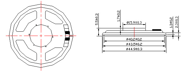 speaker mylar speaker  micro speaker fbf45-5tb