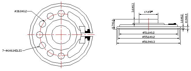 speaker mylar speaker  micro speaker fbf57-1t
